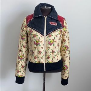 NWT Gucci down filled floral puffer
